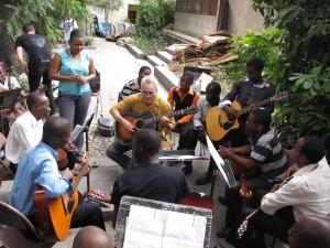 Marc Ribot et les élèves de Ste Trinité